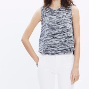 NWT Madewell Spacedyed Tank Top Heather Grey 735